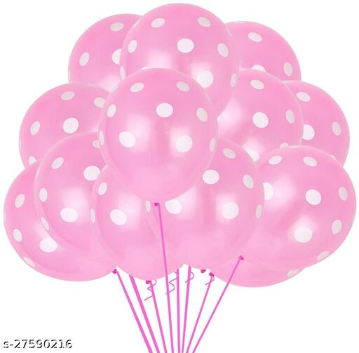 100pcs Pink Polka Dots Balloons 12inch large Polka Dot Latex Party Balloons for Wedding Birthday Party Festival Decoration Supplies