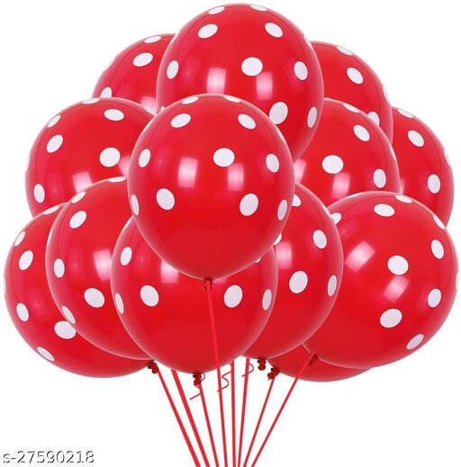 100pcs Red Polka Dots Balloons 12inch large Polka Dot Latex Party Strawbetty mouse Balloons for Wedding Birthday Party Festival Decoration Supplies