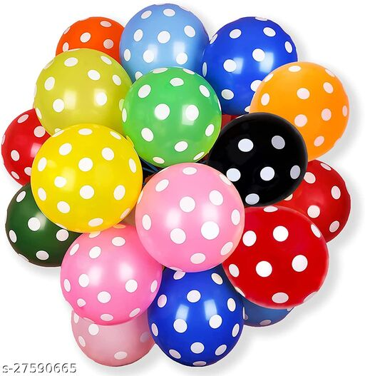 50 Pcs 12 Inches MultiColor Polka Dot Latex Balloons for Birthday Festival Wedding Anniversary Decoration Christmas Baby Shower Party Supplies