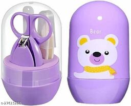Infant and Toddler Blue Grooming Kit with Scissors - The Best Unique Baby Shower Gift for Girls and Boys (purple)
