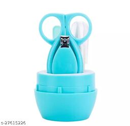 Infant and Toddler Blue Grooming Kit with Scissors - The Best Unique Baby Shower Gift for Girls and Boys (sky blue)