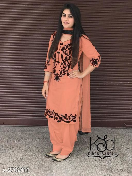 Noor Sahiba Cotton Embroidered Suits