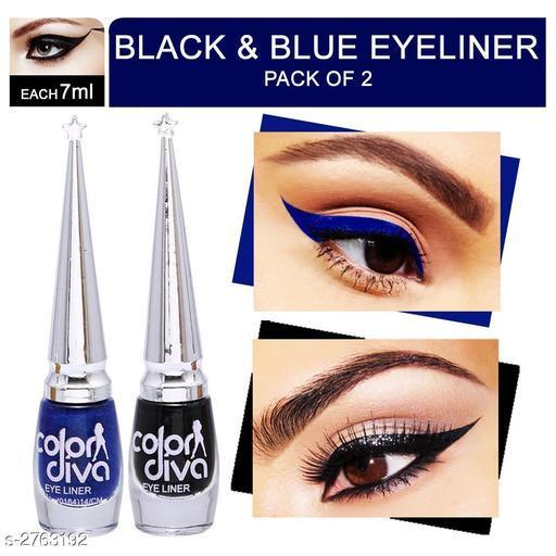 Color Diva Black & Blue Eyeliner (Pack of 2)