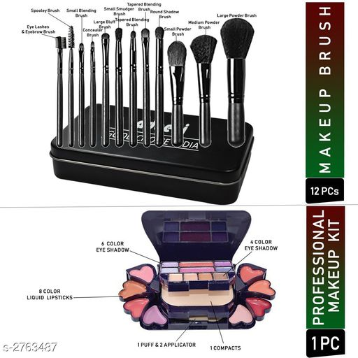 Face Premium Choice Face Care Product  *Product Name* Adbeni Makeup Brush With Makeup Kit Pack of 13-GCI622  *Brand Name* Adbeni  *Product Type* Makeup Kit  *Capacity* Makeup Kit  *Description*