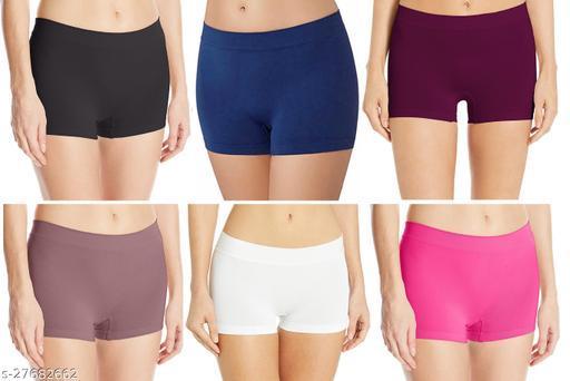 Women Pack of 6 Boy Shorts Panties