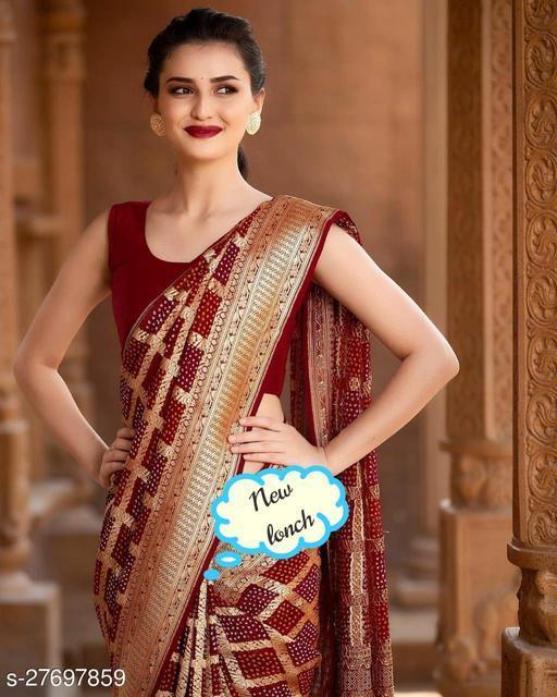 women trendy banarasi silk saree