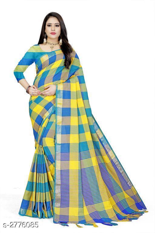 Sarees Attractive Cotton Saree  Attractive Cotton Saree  *Sizes Available* Free Size *    Catalog Name: Attractive Cotton Saree CatalogID_372857 C74-SC1004 Code: 963-2776085-