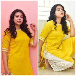 Stylish Yellow Kurti Maha Price Drop Sale