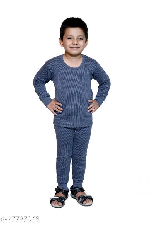 BODYSENSE Blue Thermal Top & Pyjama Set for Boys & Girls ( Pack of 1 Set )