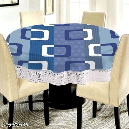 MANNAT ENTERPRISES  printed 4 Seater Round Dining Table Cover (60X60) Inches