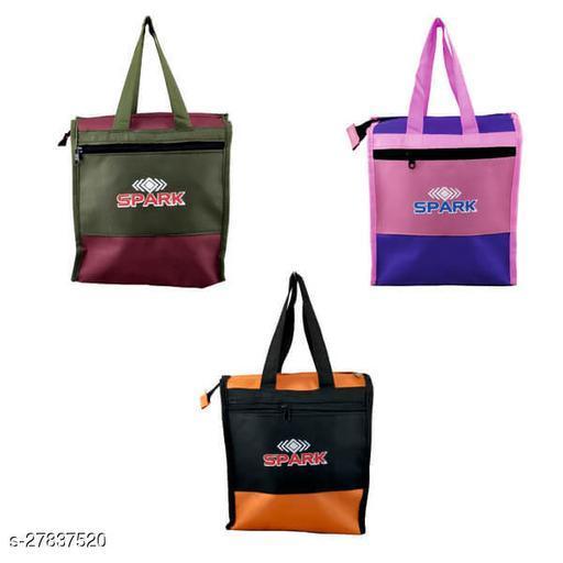 Trendy Women's Multicolor Polyester Handbag