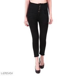 Fashionable Denim Solid Women's Jean