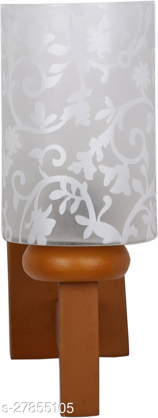 Afast New Designer Decorative Glass Wall Lamp Light With Unique Stylish Wooden Fitting (Include All Fitting & Fixture)