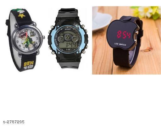 Trendy Digital Kid's Watches Combo