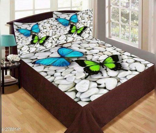 Comfy Velvet Printed Double Bedsheet