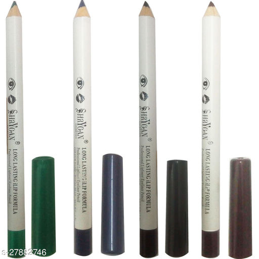 1 BLACK LIPLINER/EYELINER PENCIL (1.8 GM) + 1 GREEN LIPLINER/EYELINER PENCIL (1.8 GM) + 1 BROWN LIPLINER/EYELINER PENCIL (1.8 GM) + 1 ROYAL BLUE LIPLINER/EYELINER PENCIL (1.8 GM)
