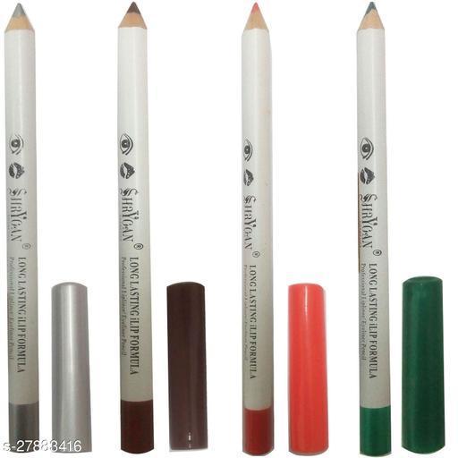 1 ORANGE LIPLINER/EYELINER PENCIL (1.8 GM) + 1 SILVER LIPLINER/EYELINER PENCIL (1.8 GM) + 1 GREEN LIPLINER/EYELINER PENCIL (1.8 GM) + 1 COFFEE LIPLINER/EYELINER PENCIL (1.8 GM)
