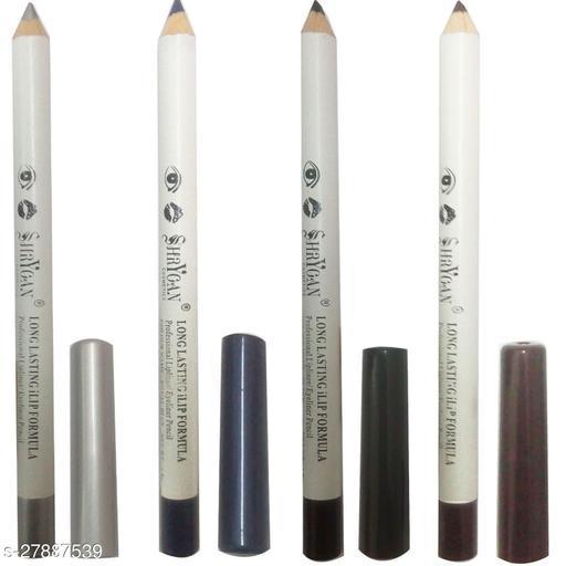 1 BLACK LIPLINER/EYELINER PENCIL (1.8 GM) + 1 BROWN LIPLINER/EYELINER PENCIL (1.8 GM) + 1 ROYAL BLUE LIPLINER/EYELINER PENCIL (1.8 GM) + 1 SILVER LIPLINER/EYELINER PENCIL (1.8 GM)