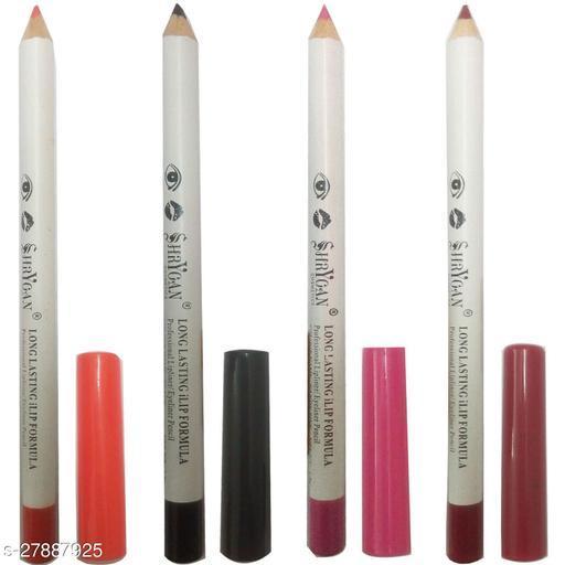 1 PINK LIPLINER/EYELINER PENCIL (1.8 GM) + 1 BLACK LIPLINER/EYELINER PENCIL (1.8 GM) + 1 WINE LIPLINER/EYELINER PENCIL (1.8 GM) + 1 ORANGE LIPLINER/EYELINER PENCIL (1.8 GM)