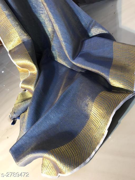 Vyomini Contrast Tissue Linen Saree