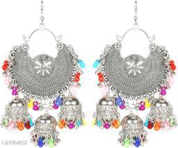 Trendy Bahubali chandbali  Jhumki earrings set