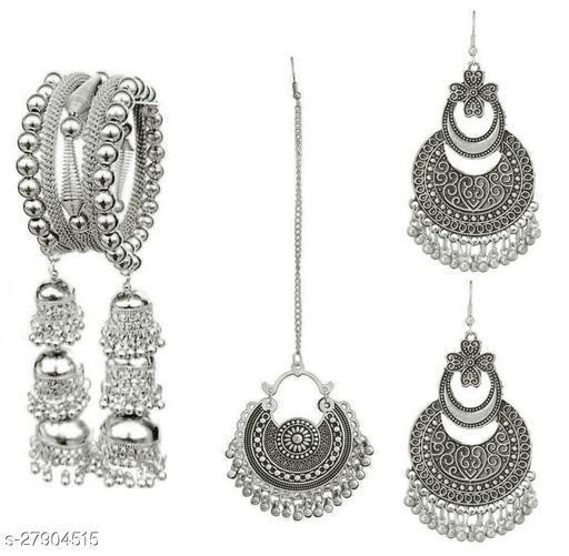 New 2021 Fancy chandbali Maang tikka earrings and Bangle