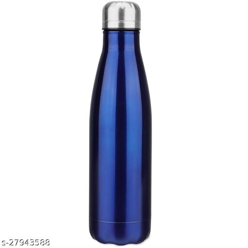 Stainless Steel Double Wall Cola Water Bottle Bottle Hot & Cold Upto 4 Hours- Blue- 500 ml