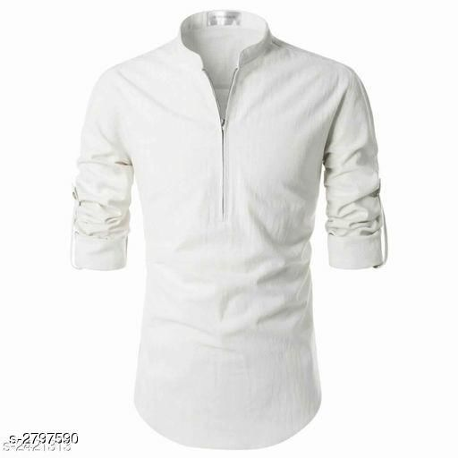 Trendy Linen Solid Men's Shirt