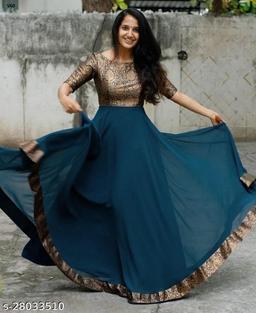 Women Jacquard Gowns