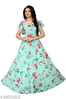 Elegant Women Georgette Gowns