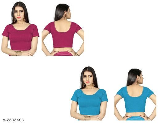 Beautiful Shimmer Lycra Women's Blouses Combo
