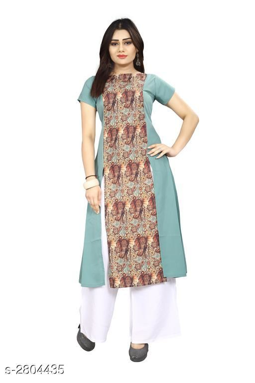 Kurtis & Kurtas American Crepe Women's Kurti  *Fabric* American Crepe  *Sleeves* Sleeves Are Included  *Size* S - 36 in, M - 38 in, L - 40 in, XL - 42 in, XXL - 44 in  *Length* Up To 44 in  *Type* Stitched  *Description* It Has 1 Piece Of Women's Kurti  *Work* Printed  *Sizes Available* S, M, L, XL, XXL   Supplier Rating: ★3.9 (7797) SKU: 56 Shipping charges: Rs1 (Non-refundable) Pkt. Weight Range: 300  Catalog Name: Carissa American Crepe Women's Kurtis Vol 17 - Crepe wali Kurtis Code: 792-2804435--304