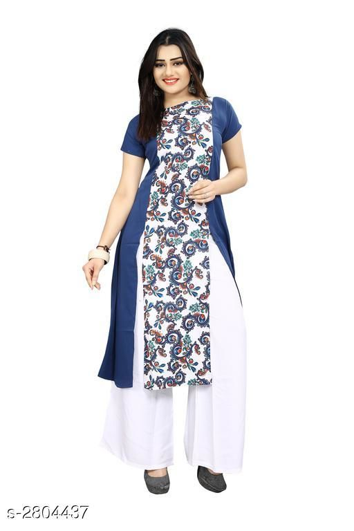 Kurtis & Kurtas American Crepe Women's Kurti  *Fabric* American Crepe  *Sleeves* Sleeves Are Included  *Size* S - 36 in, M - 38 in, L - 40 in, XL - 42 in, XXL - 44 in  *Length* Up To 44 in  *Type* Stitched  *Description* It Has 1 Piece Of Women's Kurti  *Work* Printed  *Sizes Available* S   Supplier Rating: ★3.9 (7797) SKU: 59 Shipping charges: Rs1 (Non-refundable) Pkt. Weight Range: 300  Catalog Name: Carissa American Crepe Women's Kurtis Vol 17 - Crepe wali Kurtis Code: 792-2804437--304