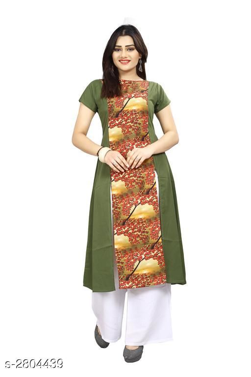Kurtis & Kurtas American Crepe Women's Kurti  *Fabric* American Crepe  *Sleeves* Sleeves Are Included  *Size* S - 36 in, M - 38 in, L - 40 in, XL - 42 in, XXL - 44 in  *Length* Up To 44 in  *Type* Stitched  *Description* It Has 1 Piece Of Women's Kurti  *Work* Printed  *Sizes Available* S, M, XL, XXL   Supplier Rating: ★3.9 (7797) SKU: 60 Shipping charges: Rs1 (Non-refundable) Pkt. Weight Range: 300  Catalog Name: Carissa American Crepe Women's Kurtis Vol 17 - Crepe wali Kurtis Code: 792-2804439--304