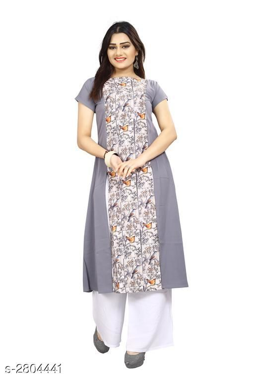 Kurtis & Kurtas American Crepe Women's Kurti  *Fabric* American Crepe  *Sleeves* Sleeves Are Included  *Size* S - 36 in, M - 38 in, L - 40 in, XL - 42 in, XXL - 44 in  *Length* Up To 44 in  *Type* Stitched  *Description* It Has 1 Piece Of Women's Kurti  *Work* Printed  *Sizes Available* S, M, L   Supplier Rating: ★3.9 (7797) SKU: 61 Shipping charges: Rs1 (Non-refundable) Pkt. Weight Range: 300  Catalog Name: Carissa American Crepe Women's Kurtis Vol 17 - Crepe wali Kurtis Code: 792-2804441--304