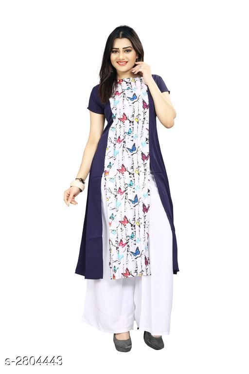 Kurtis & Kurtas American Crepe Women's Kurti  *Fabric* American Crepe  *Sleeves* Sleeves Are Included  *Size* S - 36 in, M - 38 in, L - 40 in, XL - 42 in, XXL - 44 in  *Length* Up To 44 in  *Type* Stitched  *Description* It Has 1 Piece Of Women's Kurti  *Work* Printed  *Sizes Available* S, M   Supplier Rating: ★3.9 (7797) SKU: 62 Shipping charges: Rs1 (Non-refundable) Pkt. Weight Range: 300  Catalog Name: Carissa American Crepe Women's Kurtis Vol 17 - Crepe wali Kurtis Code: 792-2804443--304