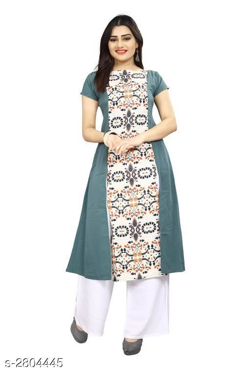 Kurtis & Kurtas American Crepe Women's Kurti  *Fabric* American Crepe  *Sleeves* Sleeves Are Included  *Size* S - 36 in, M - 38 in, L - 40 in, XL - 42 in, XXL - 44 in  *Length* Up To 44 in  *Type* Stitched  *Description* It Has 1 Piece Of Women's Kurti  *Work* Printed  *Sizes Available* L, XL   Supplier Rating: ★3.9 (7797) SKU: 64 Shipping charges: Rs1 (Non-refundable) Pkt. Weight Range: 300  Catalog Name: Carissa American Crepe Women's Kurtis Vol 17 - Crepe wali Kurtis Code: 792-2804445--304