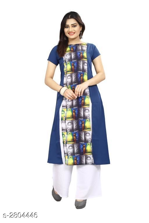 Kurtis & Kurtas American Crepe Women's Kurti  *Fabric* American Crepe  *Sleeves* Sleeves Are Included  *Size* S - 36 in, M - 38 in, L - 40 in, XL - 42 in, XXL - 44 in  *Length* Up To 44 in  *Type* Stitched  *Description* It Has 1 Piece Of Women's Kurti  *Work* Printed  *Sizes Available* S, M, L, XL   Supplier Rating: ★3.9 (7797) SKU: 65 Shipping charges: Rs1 (Non-refundable) Pkt. Weight Range: 300  Catalog Name: Carissa American Crepe Women's Kurtis Vol 17 - Crepe wali Kurtis Code: 792-2804446--304
