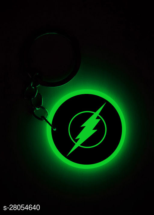 Q'sica glow in the dark keychains - Superheros  (Flash, Green)