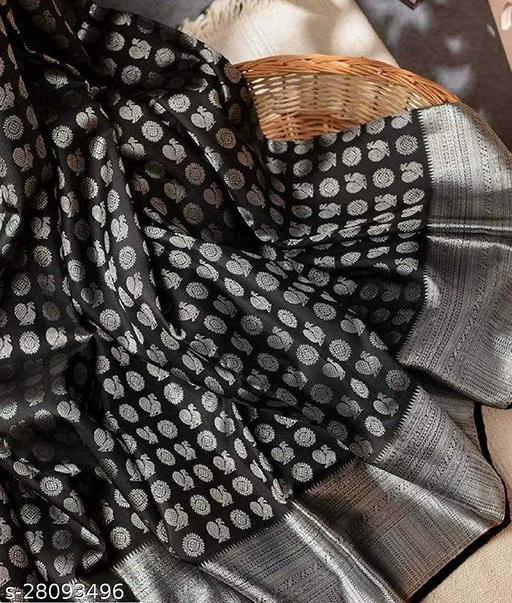 Anokhi Designer Black Colour Silver Zari Work Saree For Women