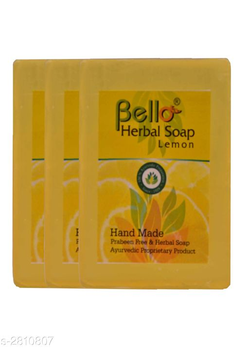 Body Bello Herbal Soap  *Product Name* Bello Herbal Soap Lemon  *Brand Name* Bello  *Product Type* Soap  *Capacity* 75 gm  *Description* It Has 3 Pack Of Skin Care Soap  *Sizes Available* Free Size *    Catalog Name:  Bello Herbal Soaps Vol 1 CatalogID_381592 C52-SC1272 Code: 022-2810807-