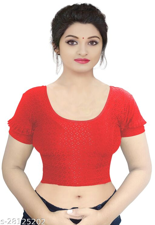 PU Designer Readymade Stretchable Party wear Blouse latest design Fancy Collection