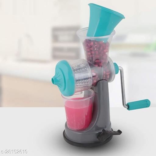 Network Plastic Hand Juicer Plastic Hand Juicer Fruit & Vegetable Nano Manual Juicer , Blue