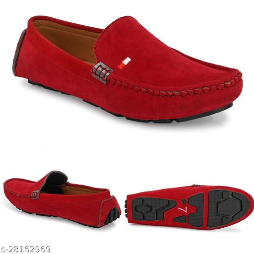 Relaxed Graceful Attractive ultra Light Red Casual Stylish Unique Loafers For Men
