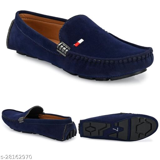Relaxed Graceful Attractive ultra Light Blue Casual Stylish Unique Loafers For Men
