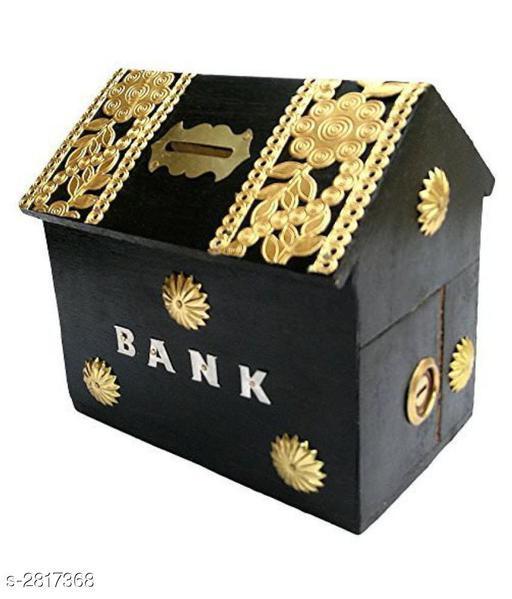 Beautiful Attractive Wooden Piggy Bank