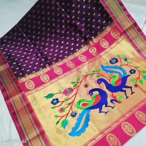 Radhe Designer Women's Soft Silk Paithani Saree