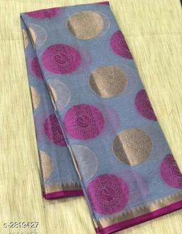 Colorful Banarasi Cotton Silk Women's Saree