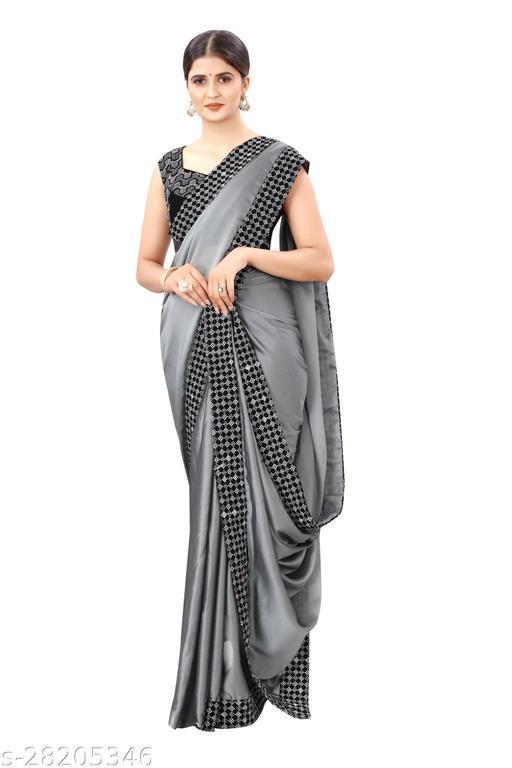 Trendy Rangoli Silk Saree With Embroidred Work Blouse Piece