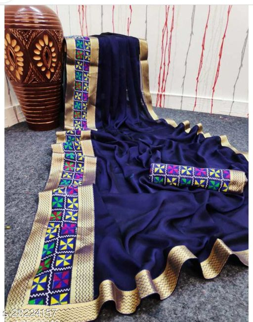 Pretty Sarees With Unstitched Blouse